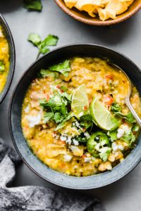 Tortilla Chicken Verde Chili (Instant Pot & Stovetop)