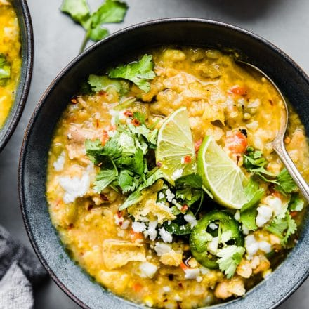 Beanless Tortilla Chicken Verde Chili (instant pot, stove stop)