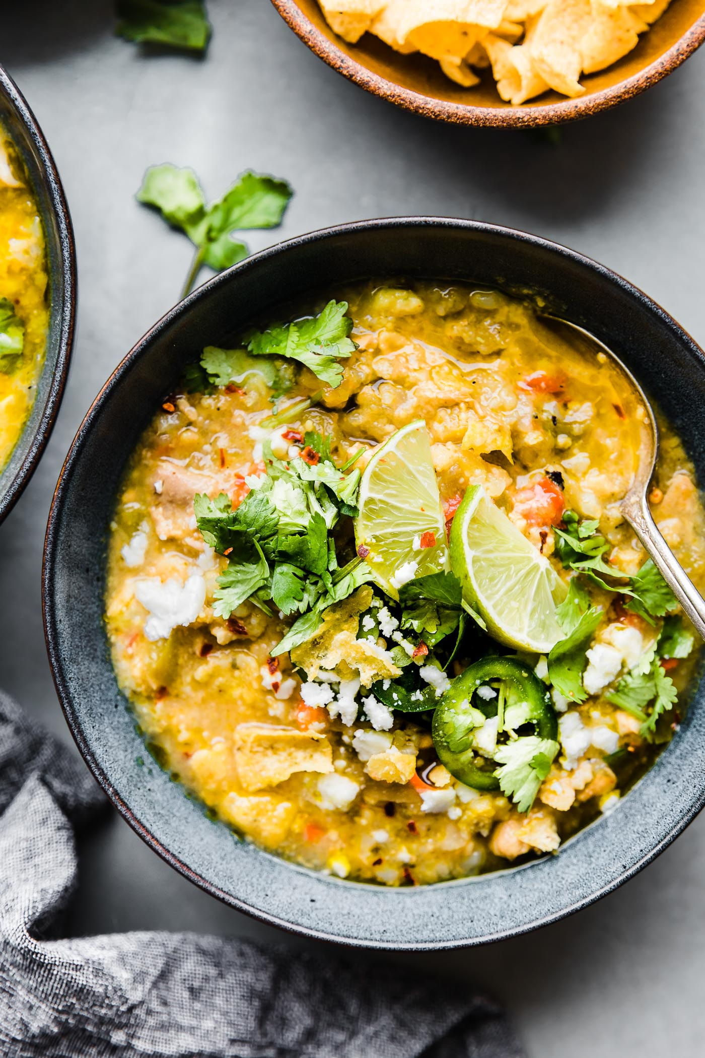 Instant Pot Tortilla Chicken Verde Chili (Stovetop Options)