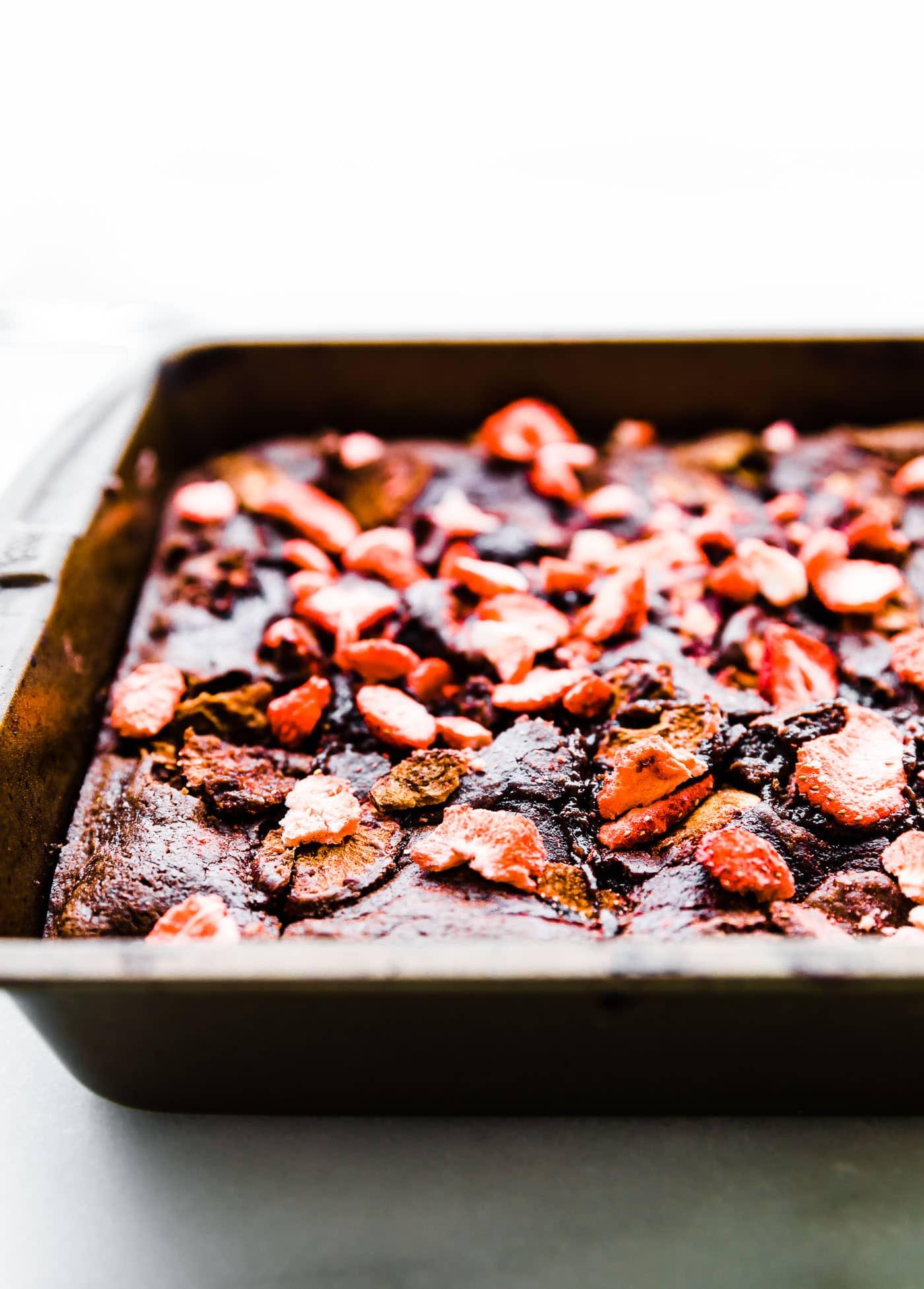 Strawberry Dark Chocolate Gluten Free Brownie