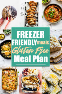 Freezer Friendly Meals Gluten Free Meal Plan
