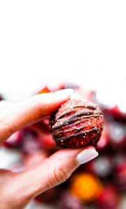 Strawberry Dark Chocolate Gluten Free Brownie Bites