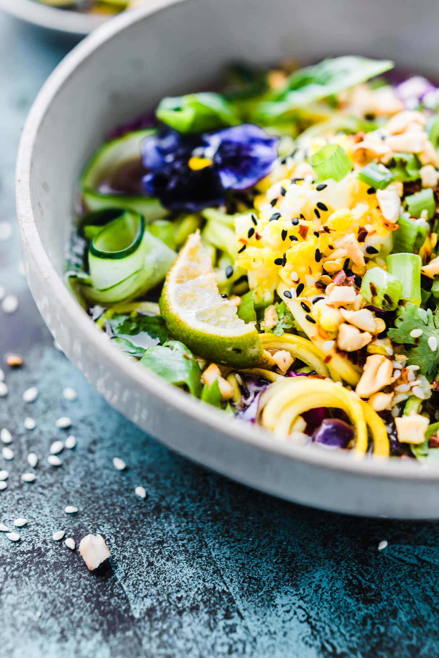 Asian-Inspired Zoodle Flu Buster Soup {Paleo}