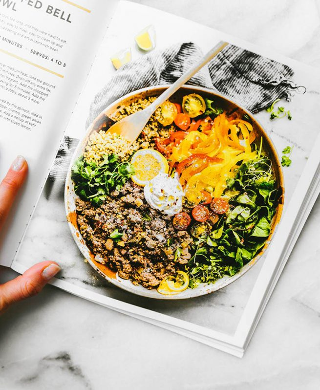 A peek inside the Nourishing Superfood Bowls Cookbook