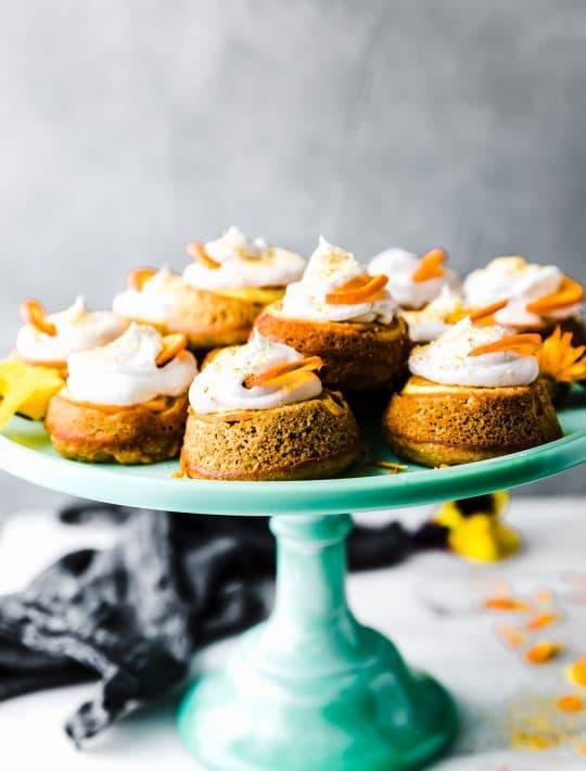 orange paleo upside down cake.