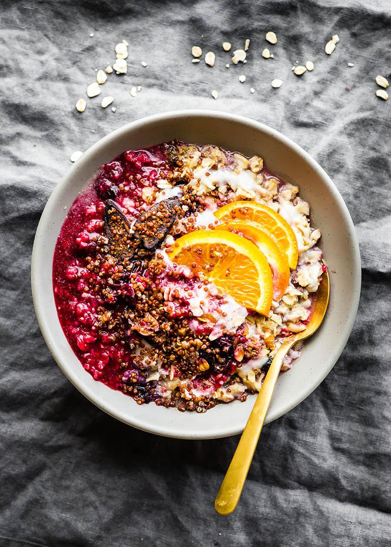 Raspberry Sunrise Porridge Energy Bowl
