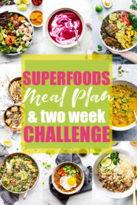 Gluten Free Superfoods Meal Plan and Challenge