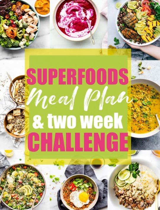 gluten free superfood meal plan challenge