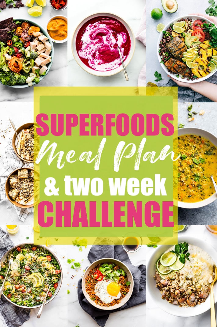 gluten free superfood meal plan challenge