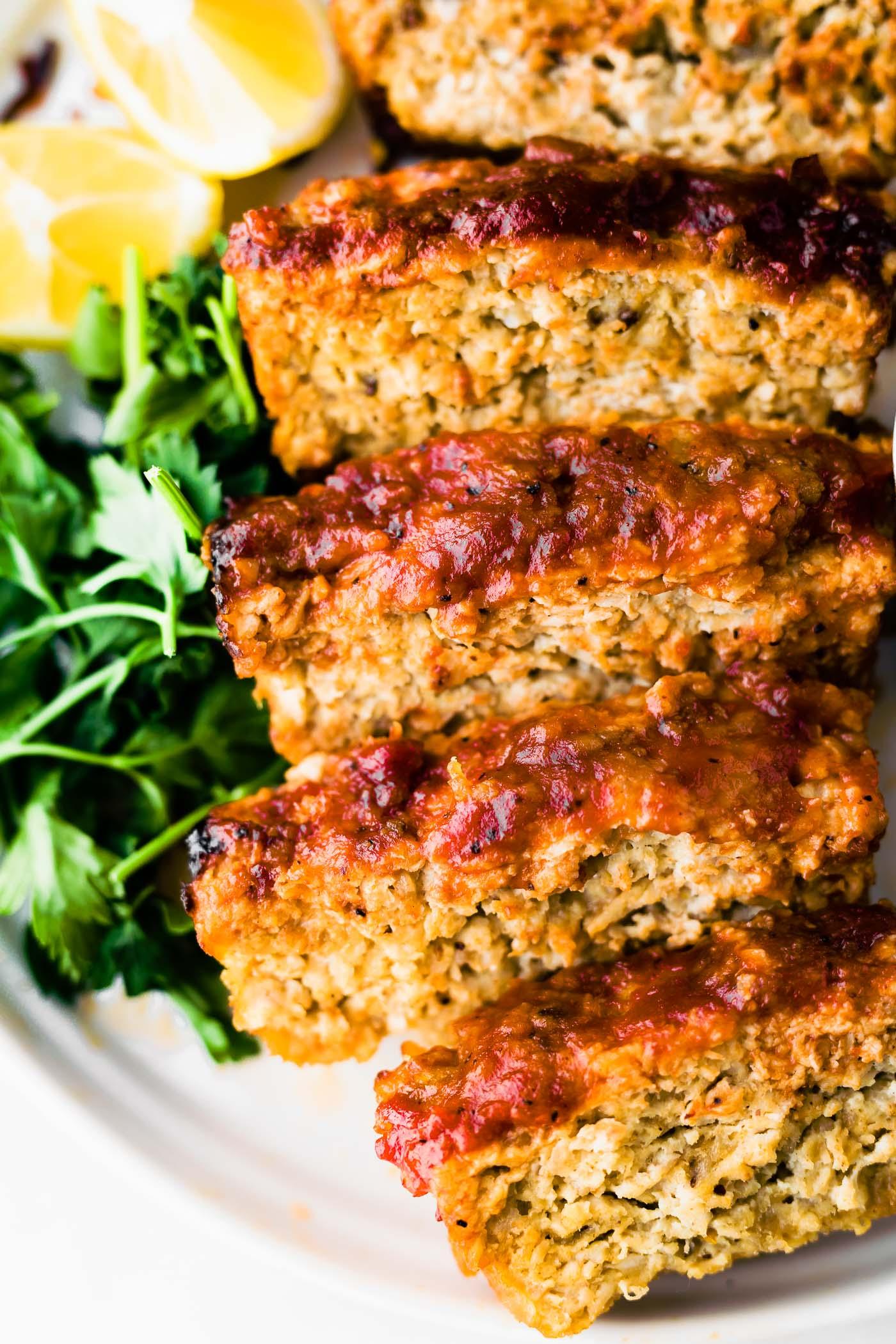 Barbecue gluten free meatloaf #glutenfree #dairyfree #healthy