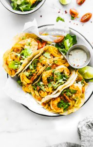 Crock Pot Fire Roasted Shrimp Tacos
