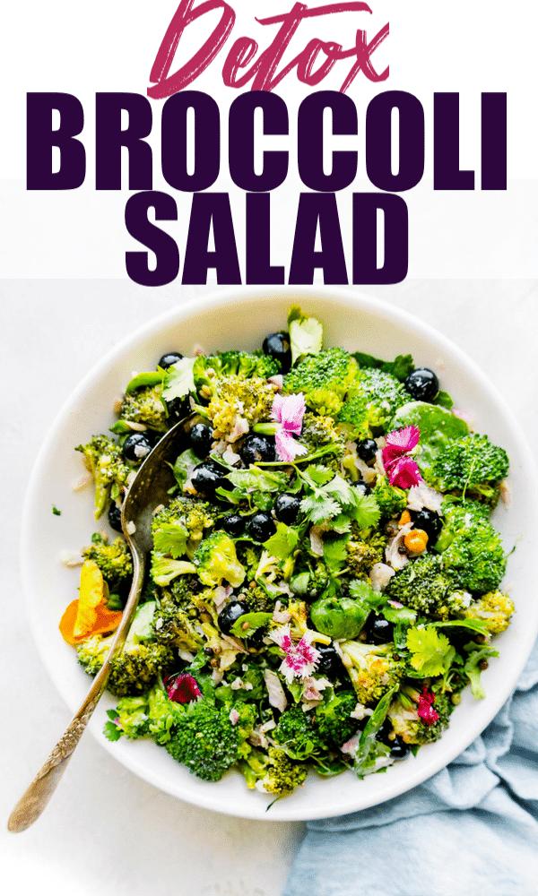 Detox Broccoli Salad! OUR FAVORITE MAYO FREE BROCCOLI SALAD