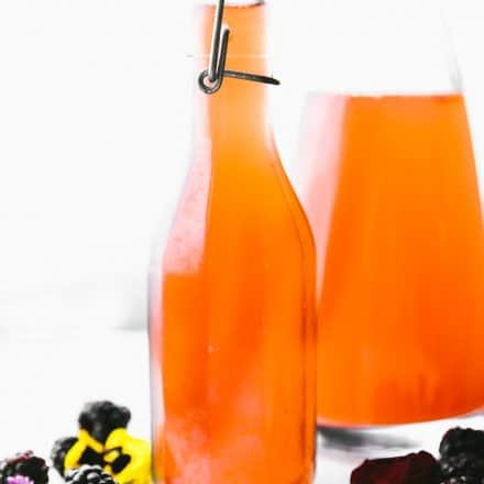 homemade Fruit kvass in glass decanter