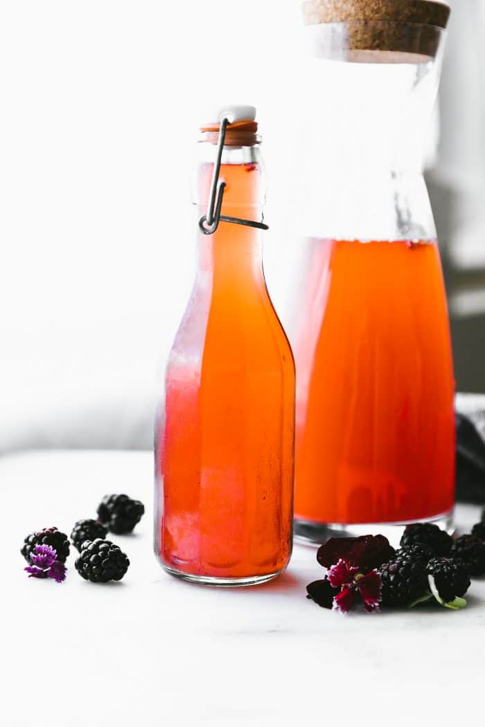 kvass in jars (fruit)