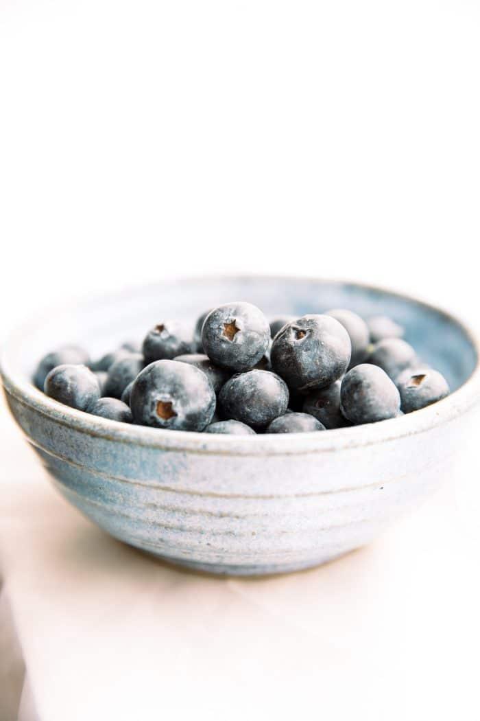 bowl of fresh blueberries