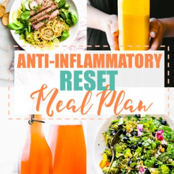 anti-inflammatory meal plan photo collage
