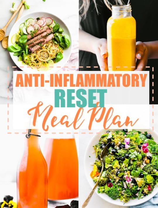 anti-inflammatory meal plan photo collage