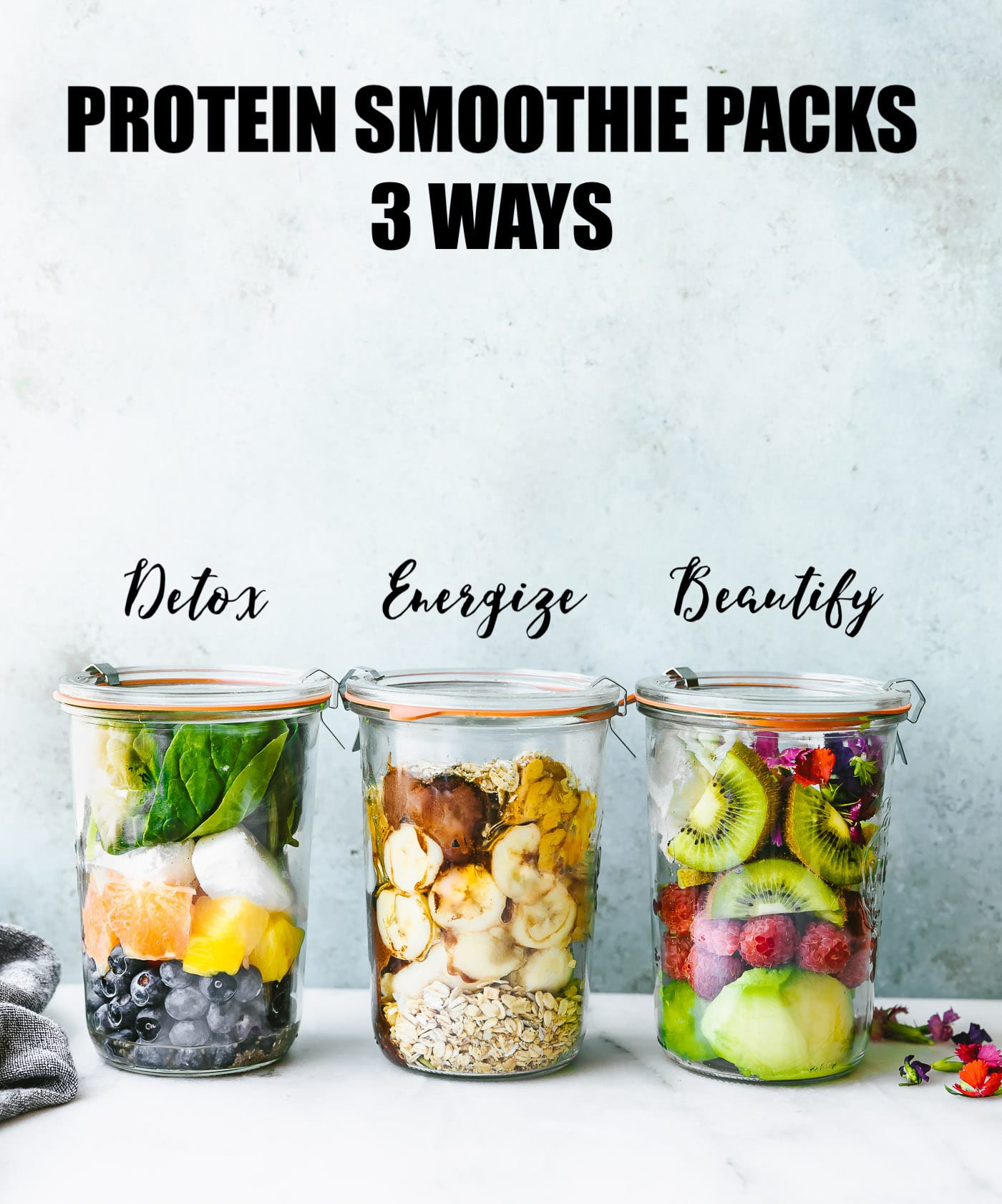 These 3 Make-Ahead Smoothie Packs