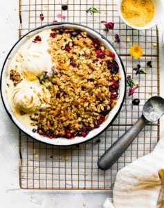 Coconut Summer Berry Crisp {Lower Sugar}