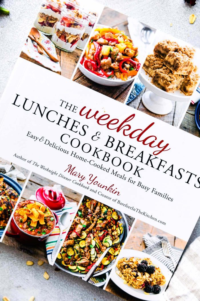 weekday lunches and breakfast cookbook