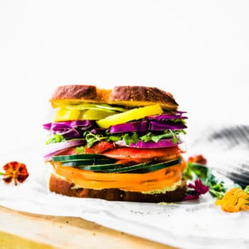 gluten free farmer's market veggie sandwich