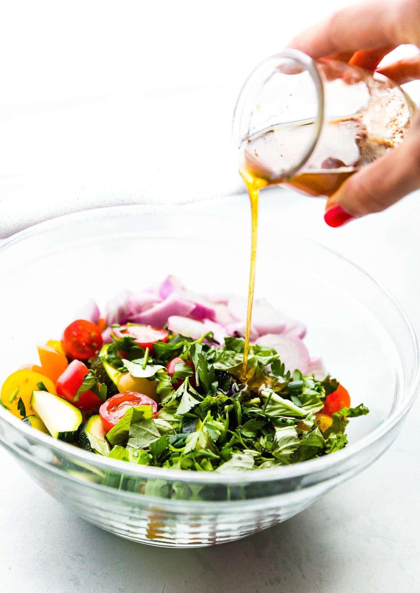 marinated summer salad herbs