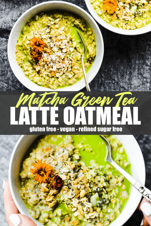 Energizing Coconut Matcha Green Tea latte Oatmeal
