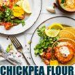 Chickpea Pancakes with Harissa Yogurt Sauce