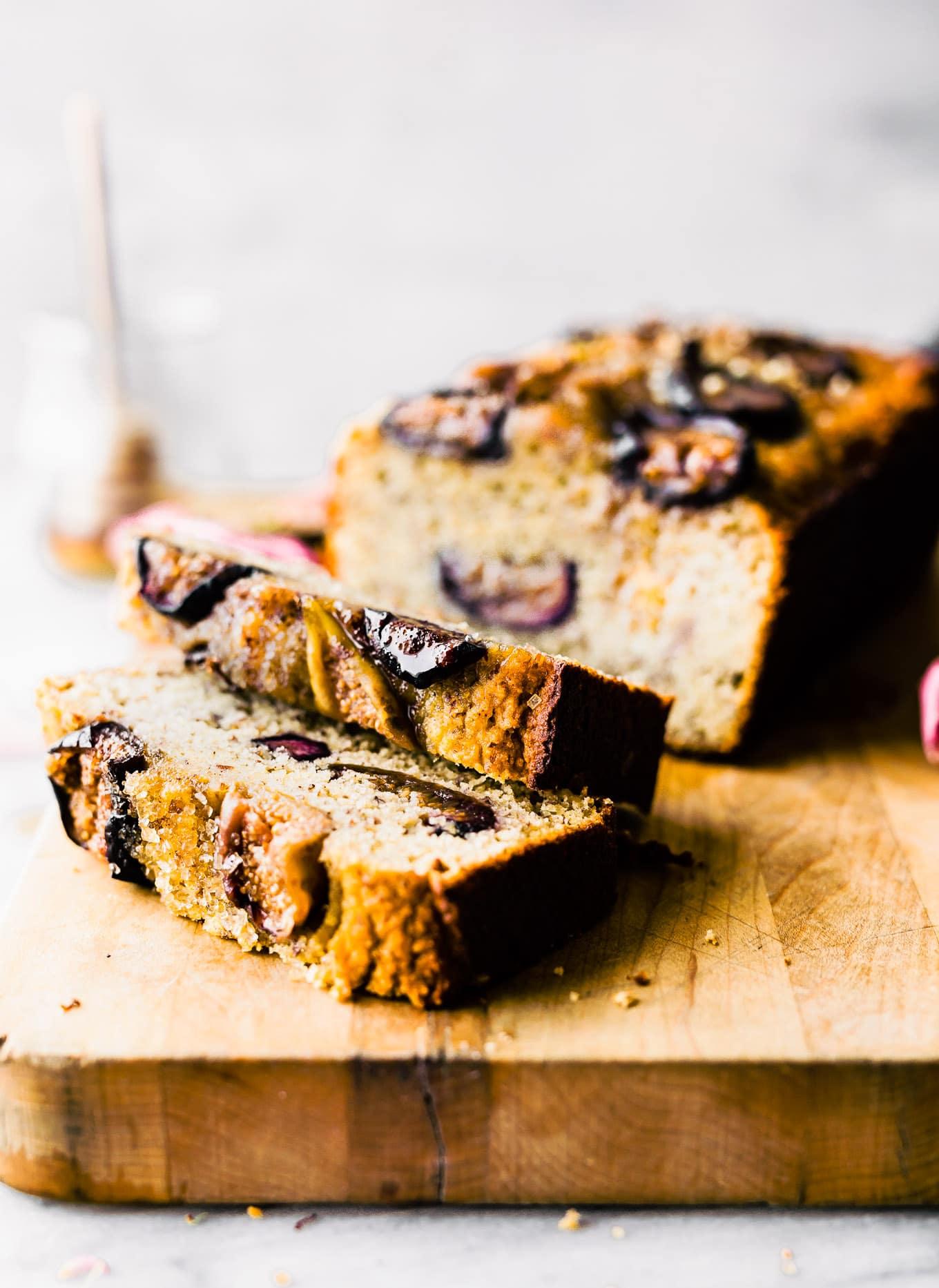 almond cake sliced
