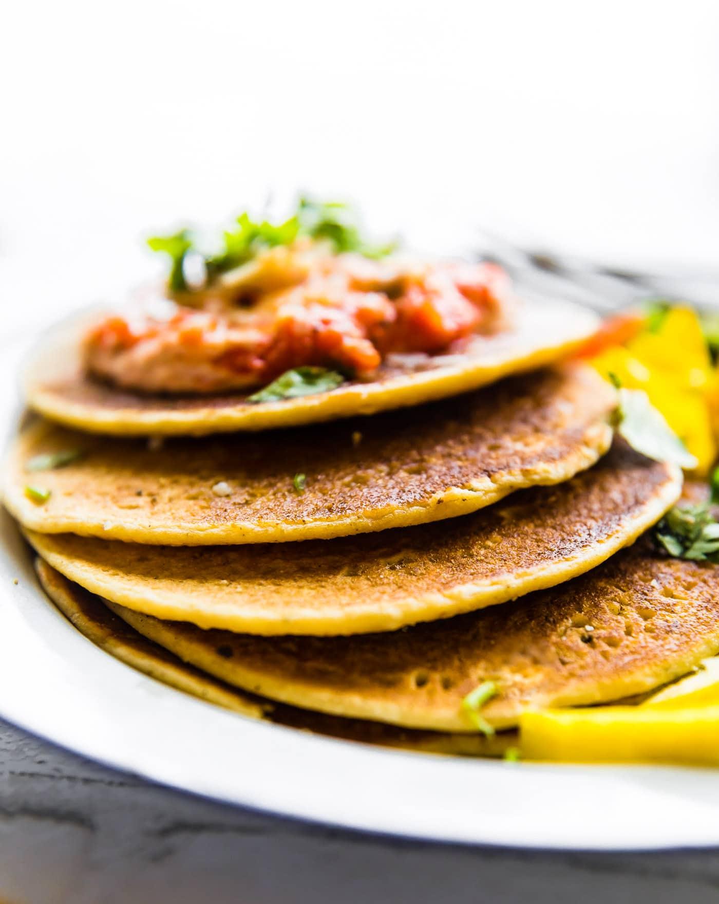 savory chickpea pancakes -