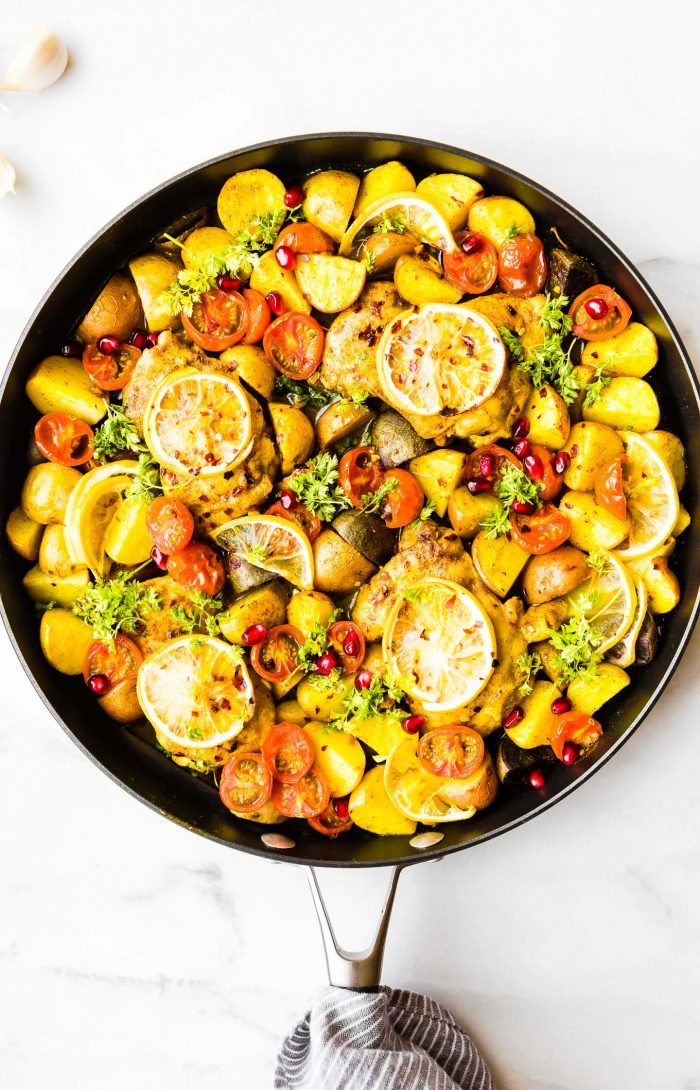 Persian Spiced Pan Roasted Chicken One Pan Meal Cotter