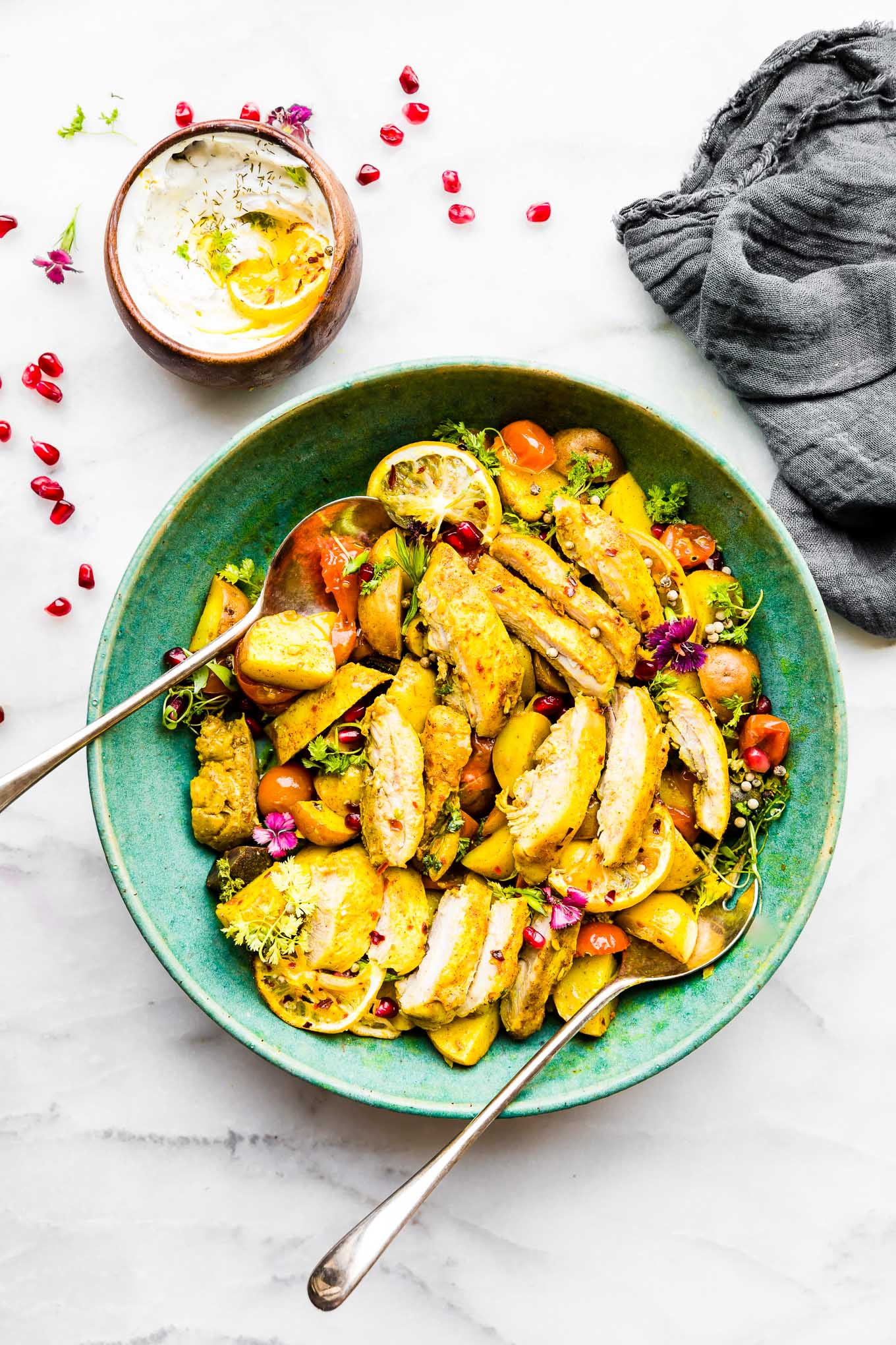 Lemon CHicken Bake - Persian Spiced One Pan Meal!
