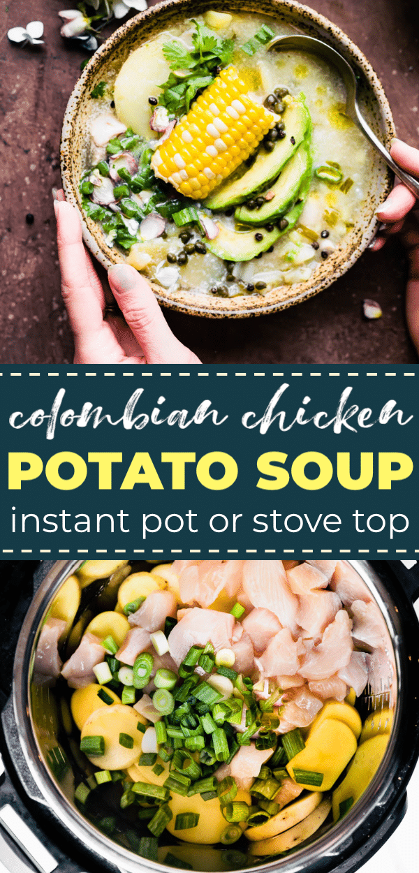 potato chicken soup - instant pot. pin