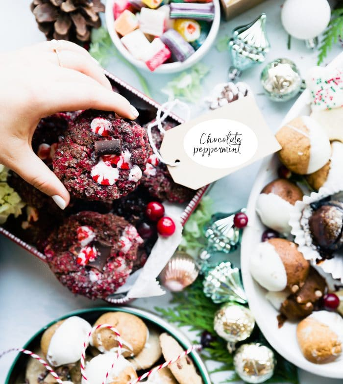 chocolaty peppermint vegan Christmas cookies