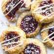gluten free and vegan raspberry thumbprint cookies