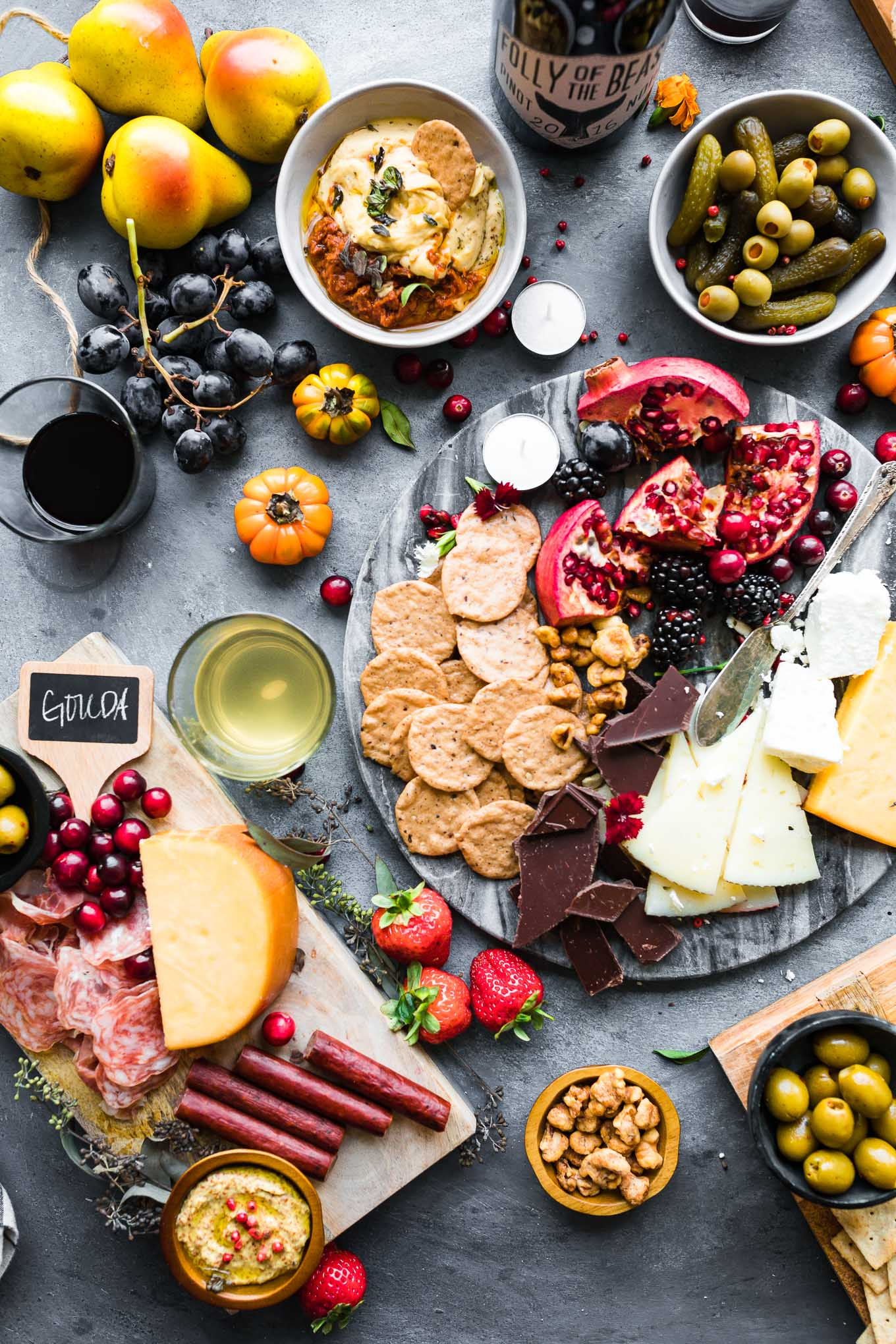 wine and cheese boards
