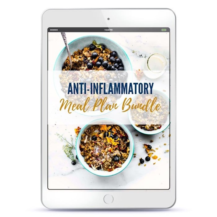 Anti-inflammatory meal plan