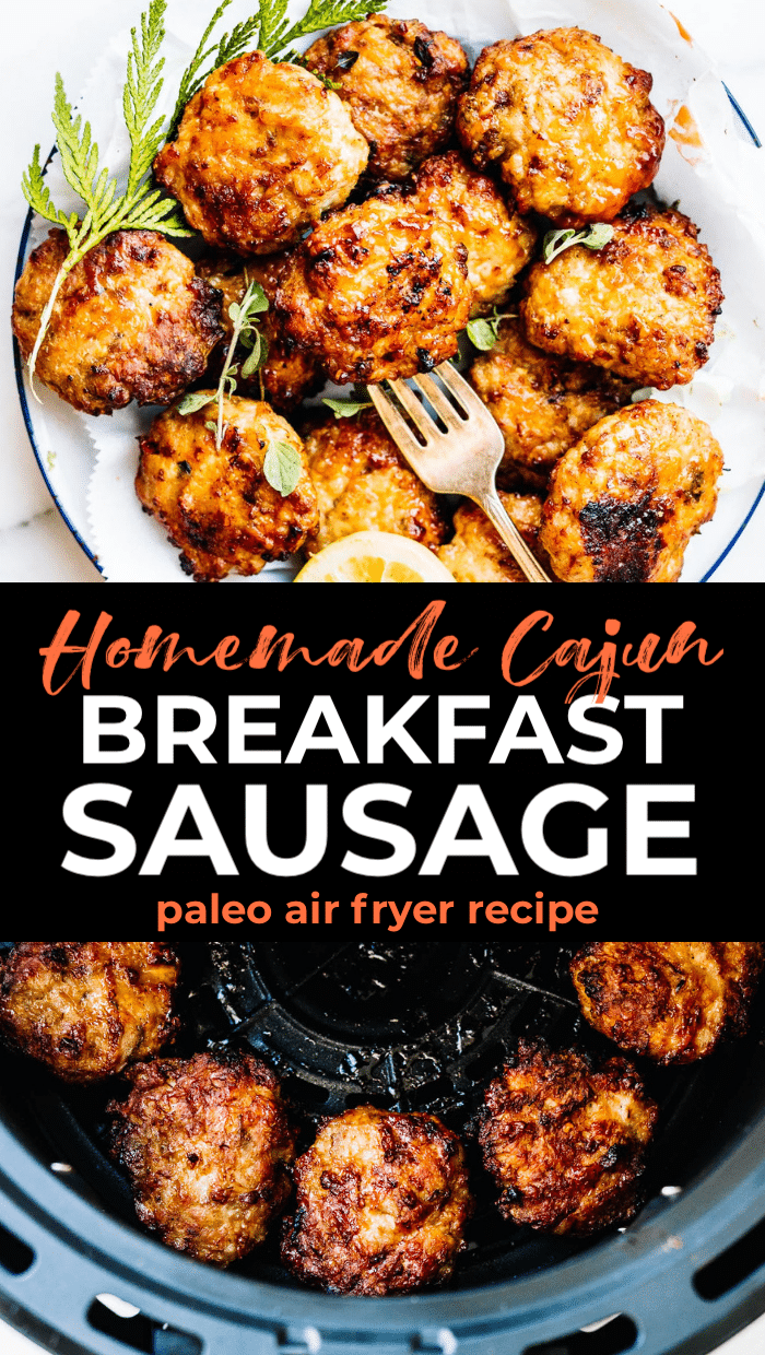 air fryer sausage patties pin