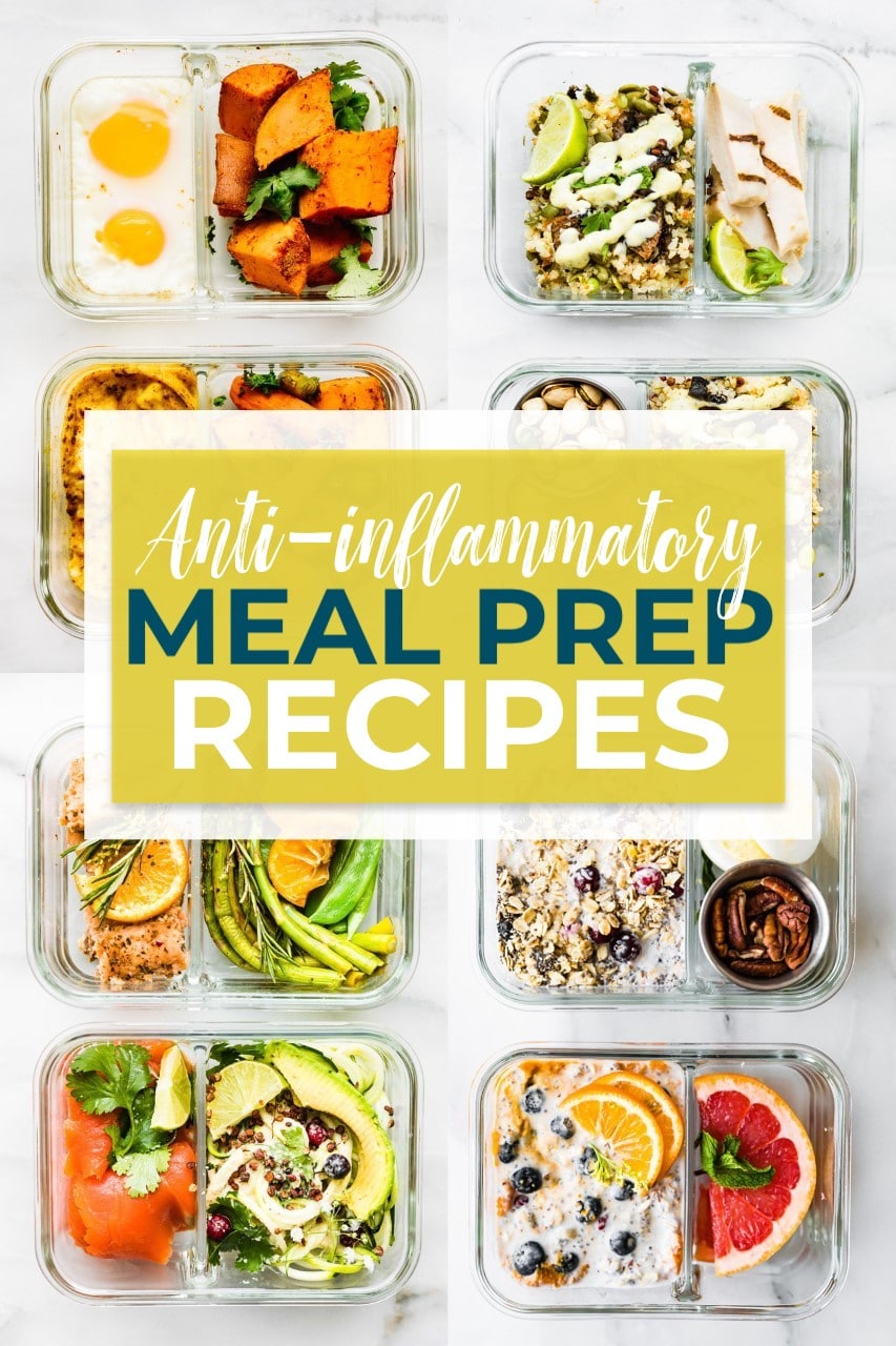 anti-inflammatory diet meal prep recipes challenge can help reset and heal your body of inflammation. Join the meal prep recipes challenge and use our easy, delicious, gluten-free recipes to help you feel better! The recipes are rich in foods that are known for their anti-inflammatory properties. Food plays a key role in reducing inflammation in the body, so use this fun challenge to help get you started!