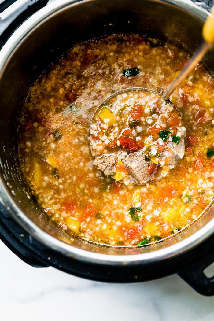 fajita soup in an instant pot