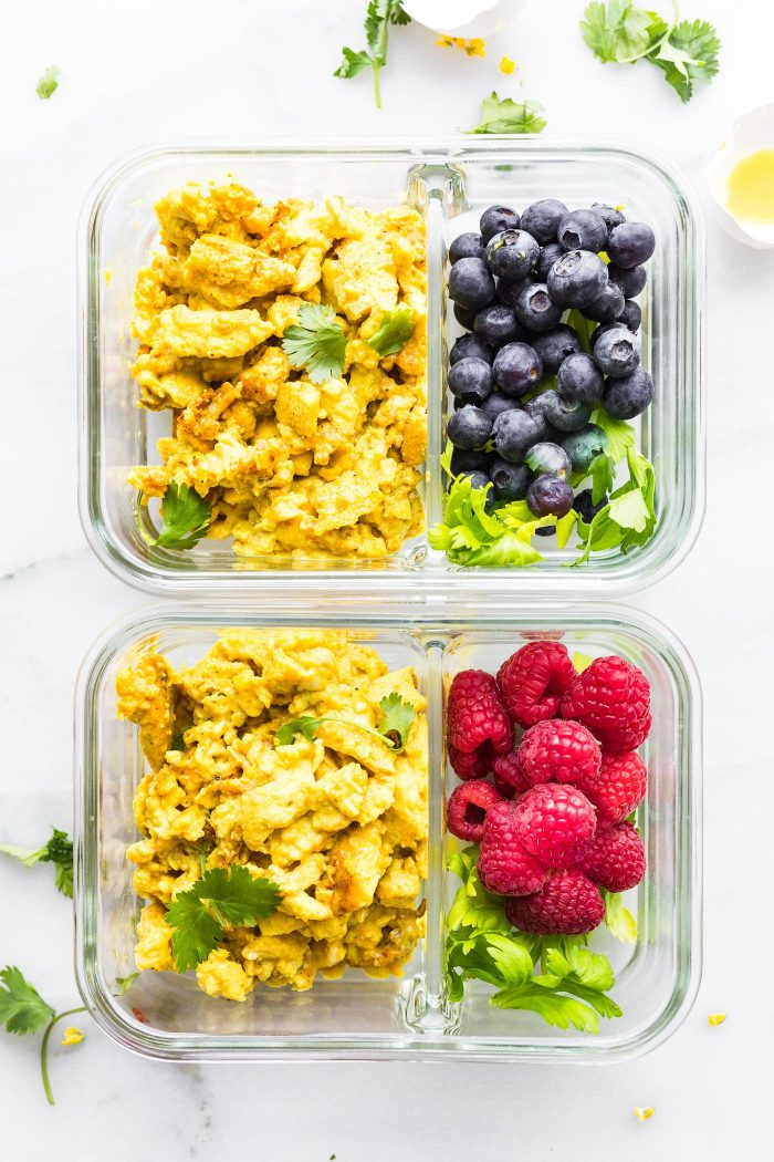 MEAL PREPPED turmeric scrambled eggs
