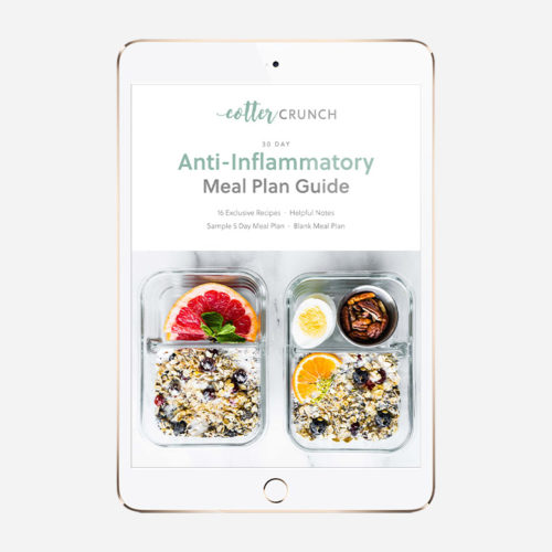 30 Day Anti Inflammatory Meal Plan Guide cover on ipad