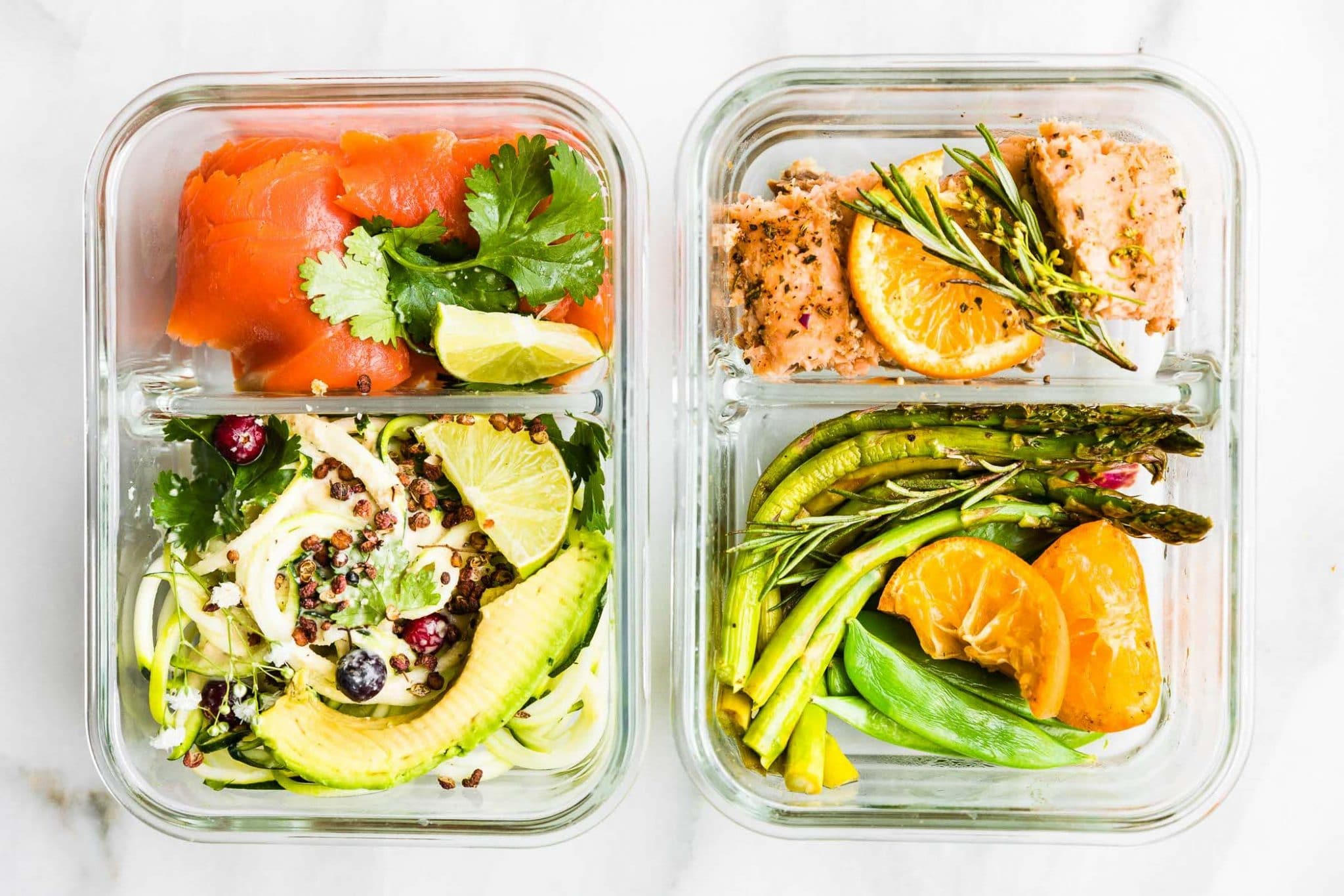 meal prep container - salmon