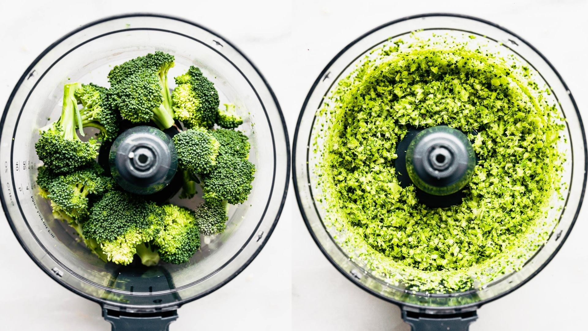 broccoli rice in food processor