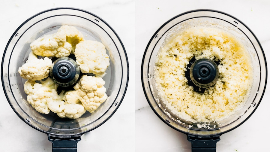 cauliflower rice in food processor