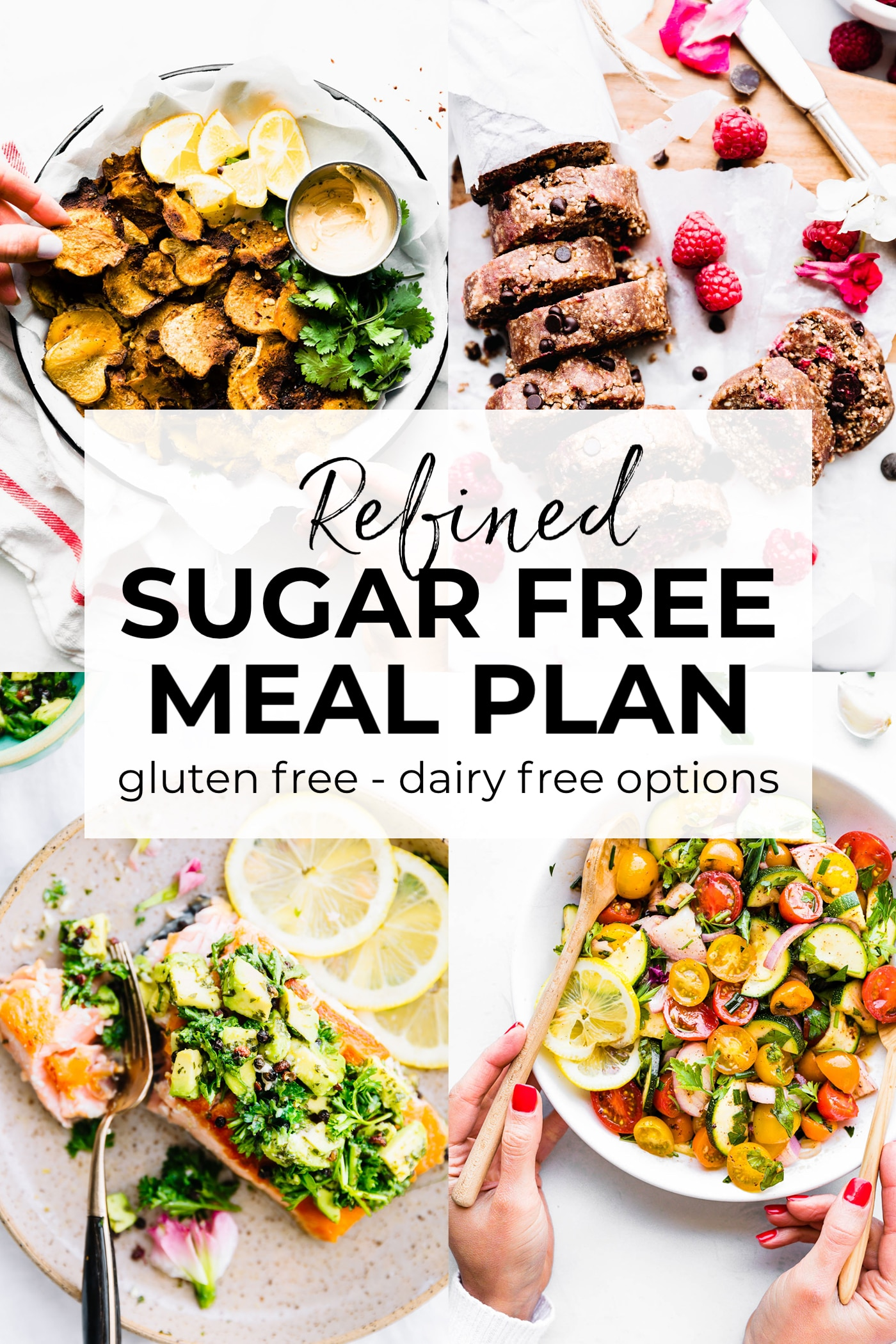 refined sugar free meal plan pin