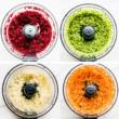riced veggies in food processor