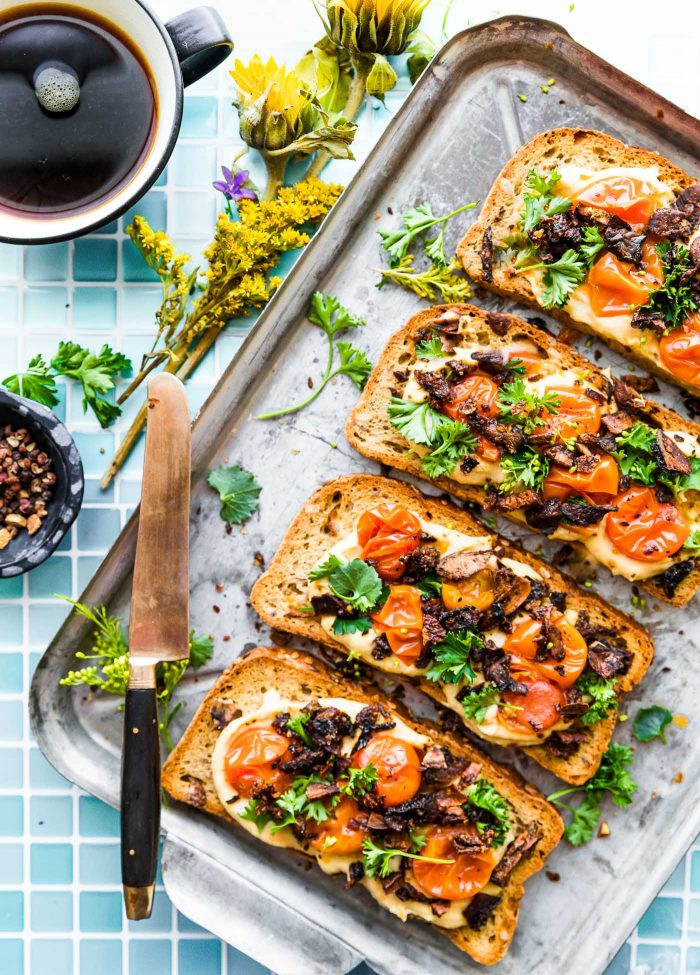 Vegan Mushroom Bacon Breakfast Toast (Gluten Free ...