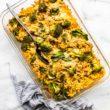 pan of gluten free tuna noodle casserole