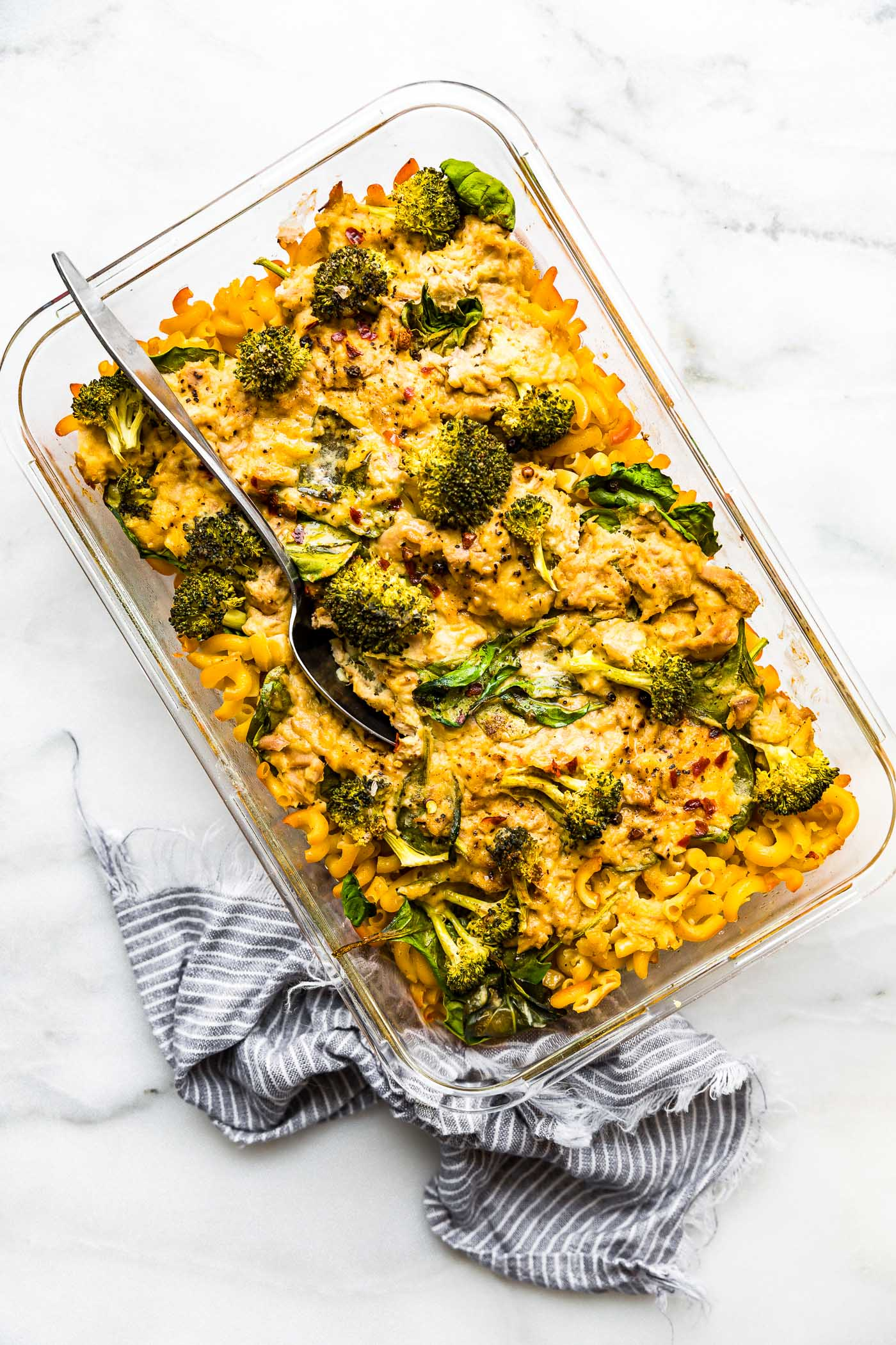 casserole with tuna and pasta and broccoli- dairy free gluten free